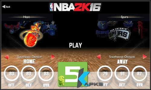 NBA 2K16 mod latest version download free apk 5kapks