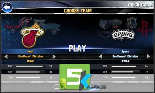 NBA 2K14 mod latest version download free apk 5kapks