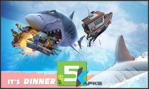 Hungry Shark Evolution mod latest version download free apk 5kapks