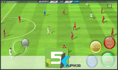 FIFA 16 Ultimate team v3.3.118003 Apk+MOD+[!OBB Data] For Android full download 5kapks