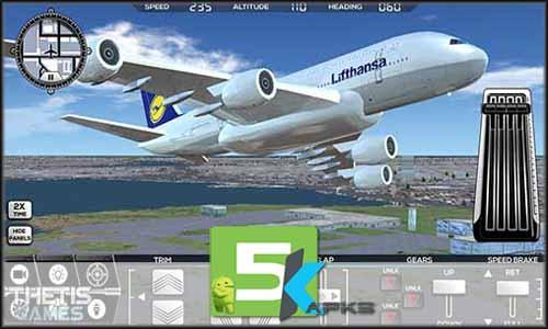 Flight Simulator FlyWings 2017 v3.3.0 Apk+Obb Data+MOD[!Unlocked] Free full download 5kapks