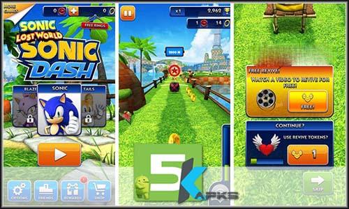 Sonic Dash mod latest version download free apk 5kapks