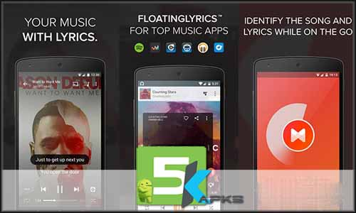Musixmatch Lyrics free apk full download 5kapks