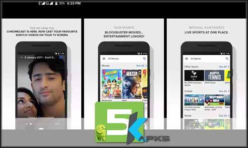 SonyLIV–LIVE Cricket TV Movies free apk full download 5kapks