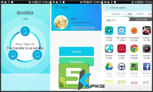 SHAREit - Transfer free apk full download 5kapks