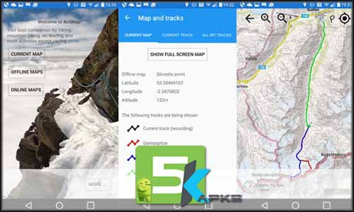 ActiMap - Outdoor maps & GPS free apk full download 5kapks