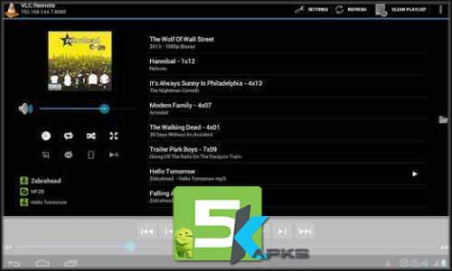 VLC Remote free apk full download 5kapks