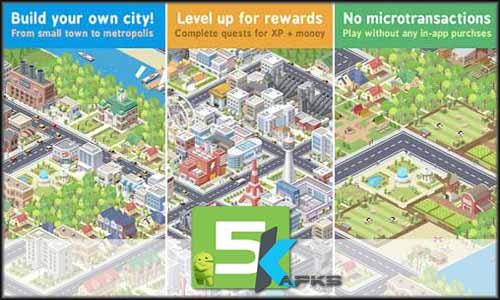 Pocket City mod latest version download free apk 5kapks
