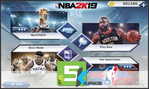 NBA 2K19 free apk full download 5kapks