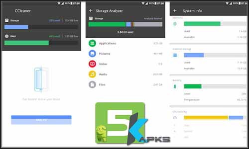 CCleaner Cache cleaner, RAM cleaner, Booster free apk full download 5kapks