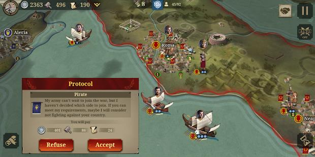 Great Conqueror:Rome mod latest version download free apk 5kapks