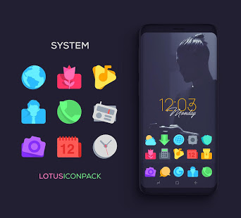 Lotus Icon Pack mod latest version download free apk 5kapks
